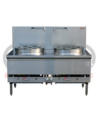 DOUBLE BURNER DIM SUM STEAMER