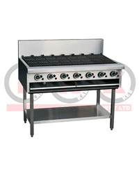LKK 7 BURNER 1200mm GAS CHARGRILL WITH LEGS