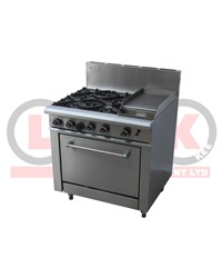 4 OPEN BURNER COOKTOP + 300MM RIGHT GRIDDLE + STD OVEN