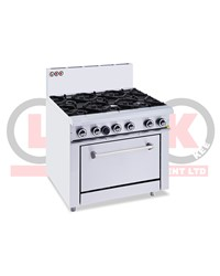 6 OPEN BURNER COOKTOP + STATIC OVEN