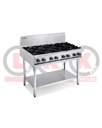 8 GAS OPEN BURNERS WITH LEGS